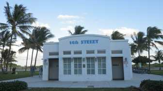 Art-déco-Klohäuschen in Miami Beach