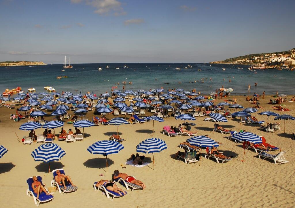 Mellieha Bay in Malta