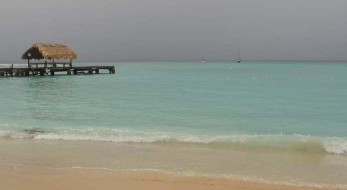 Am Pigeon Point Tobago