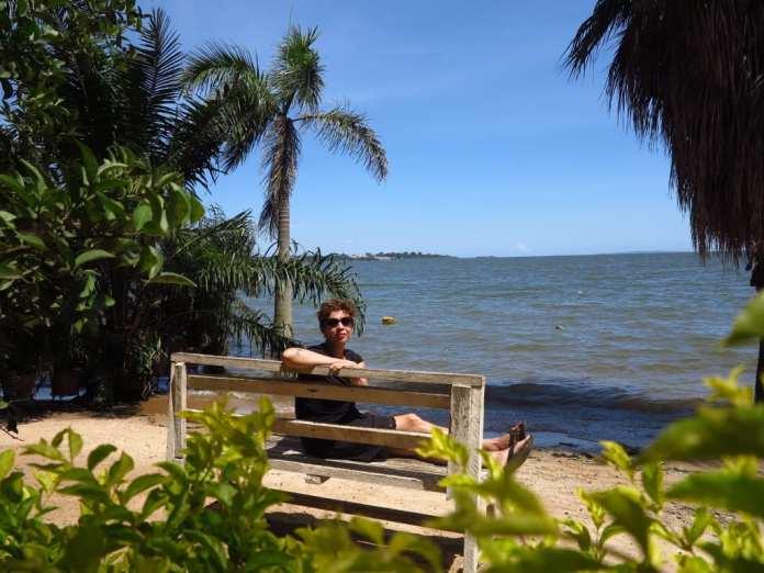 Strand in Entebbe in Uganda
