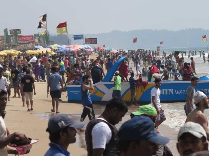 Strand von Calangute in Goa