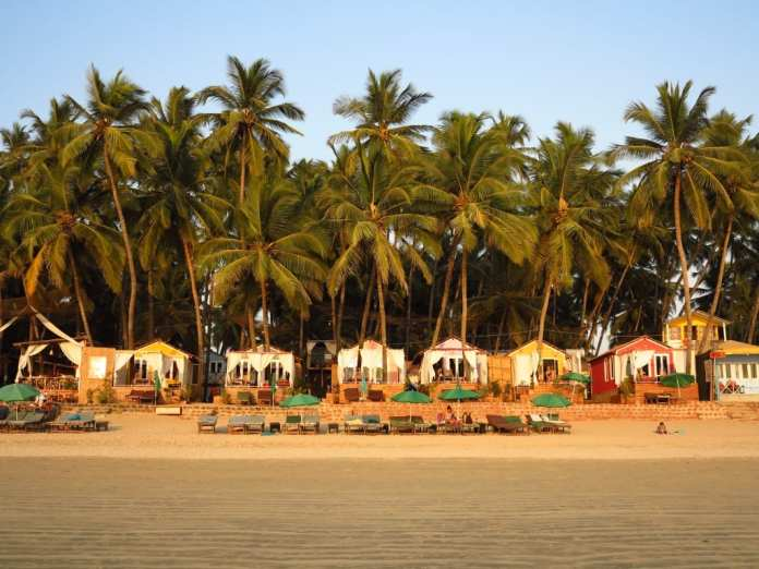 Hütten in Palolem in Goa