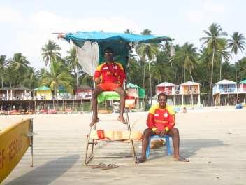Wasserwacht in Palolem in Goa
