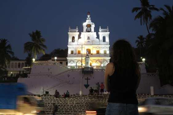 Kirche in Fontinhas in Panjim