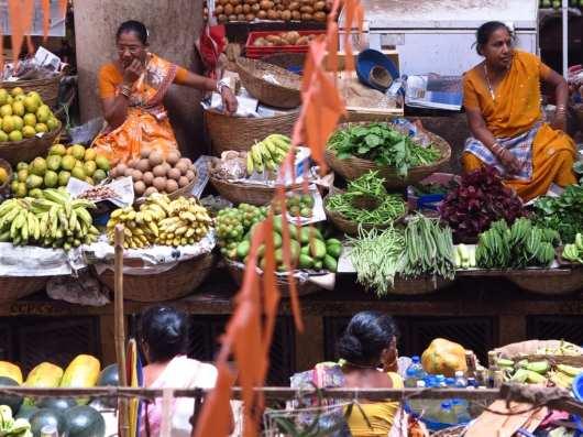 Markt von Panjim in Goa in Indien