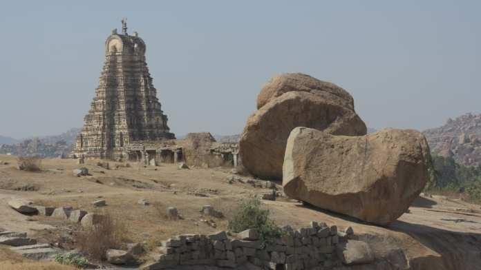 Haupttempel von Hampi in Indien