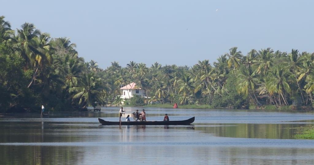 Die Backwaters in Kerala