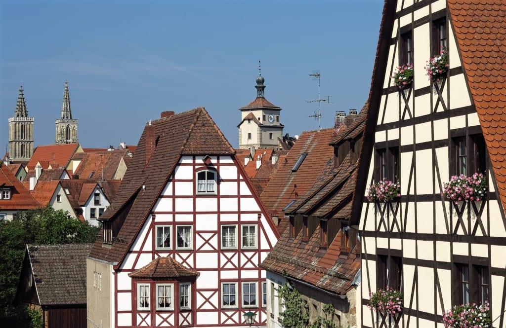 Fachwerkhäuser in Rothenburg ob der Tauber
