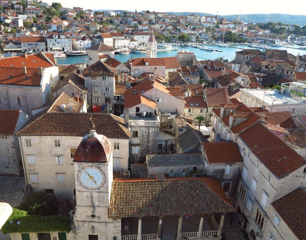 Blick auf Altstadt am Meer