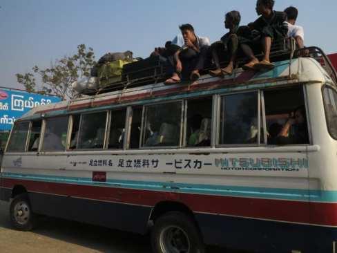 Minibus in Myanmar