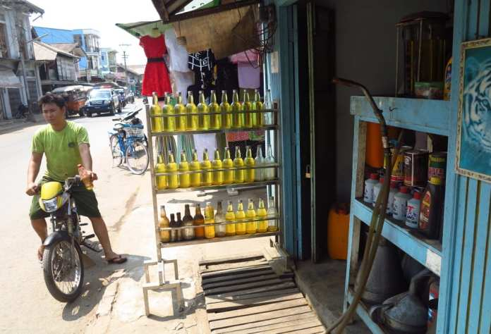 Tankstelle in Myanmar