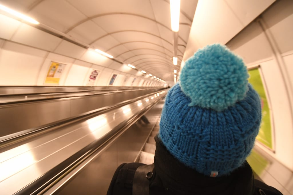 Längste Rolltreppe Europas in Prag