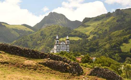 Kirche von Fazendas auf Flores