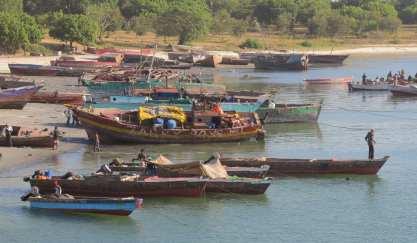 Fischerhafen von Daressalam in Tansania