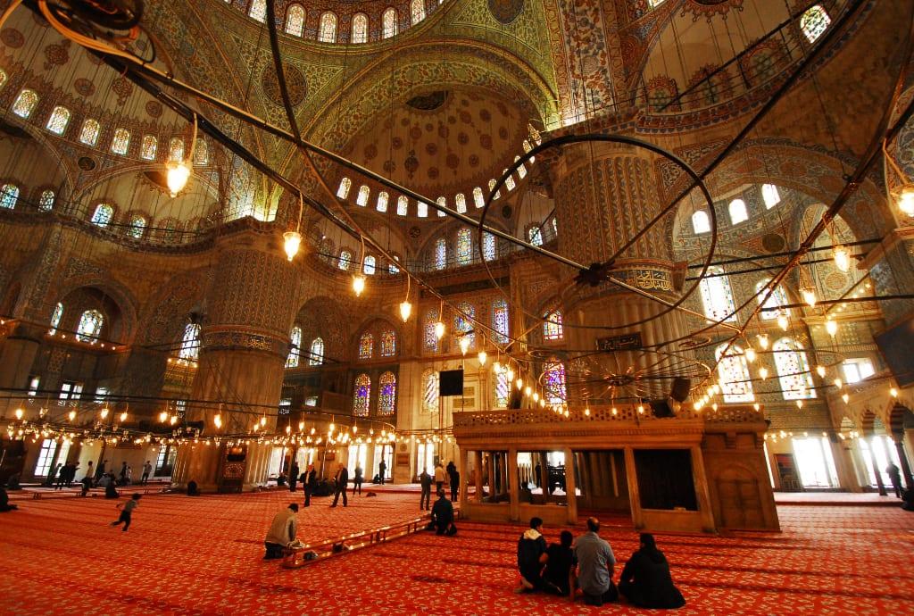 Blaue Moschee in Istanbul innen