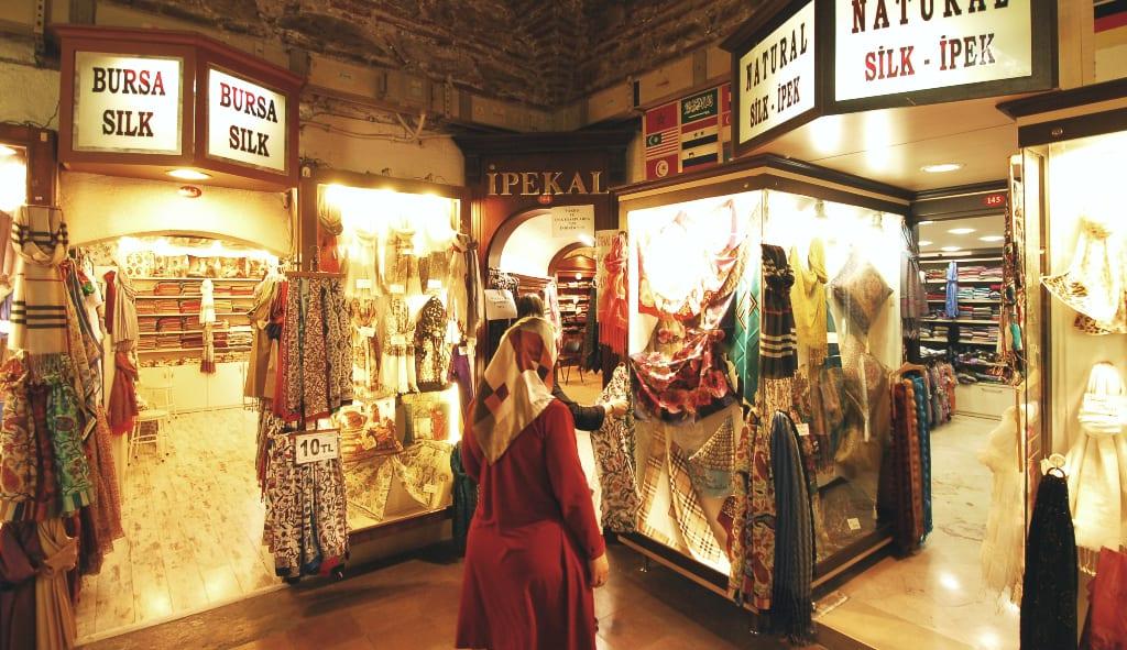 Basarviertel von Bursa in der Türkei