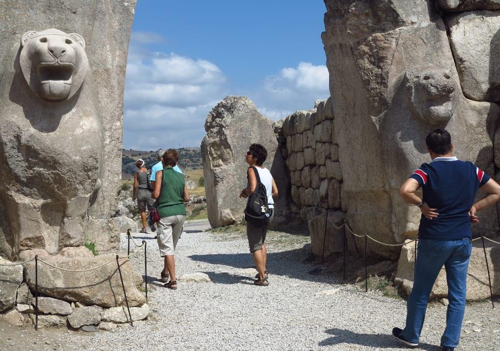 Ausgrabungsstätte Hattusa in der Türkei