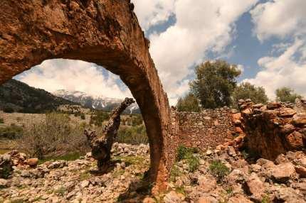 Ruine in Aradena-Dorf auf Kreta