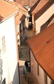 Gasse im tschechischen Städtchen Trebic