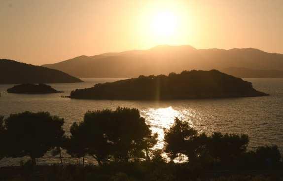 Sonnenuntergang in Küstenlandschaft