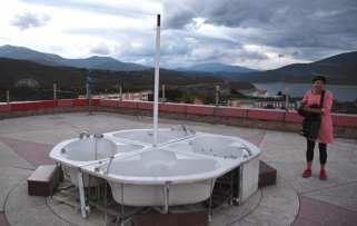 Whirlpool auf einer Dachterrasse