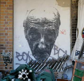 Männergesicht Streetart