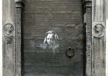 Streetart an einer Tür