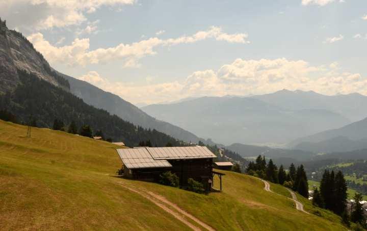 Hütte in den Alpen