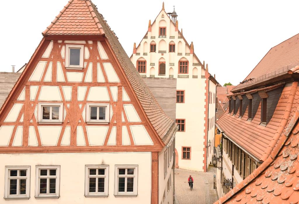 Schöne Altstadt mit Fachwerk