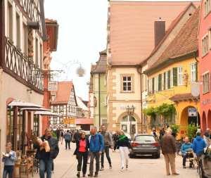 Schöne Altstadt mit Fachwerkhäusern