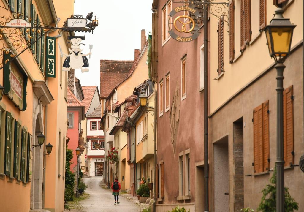 Schöne Gasse einer Altstadt