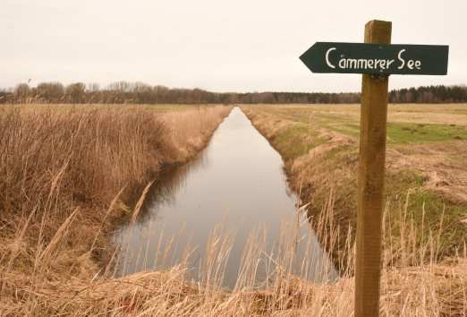 """Wanderschild mit Aufschrift """"Cämmerer See"""""""