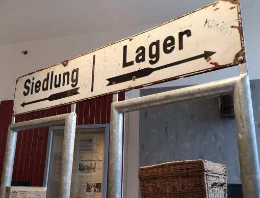 Siedlung Lager Ausstellung