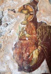 Teilweise erhaltene Freske