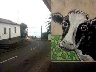 Mural einer Kuh