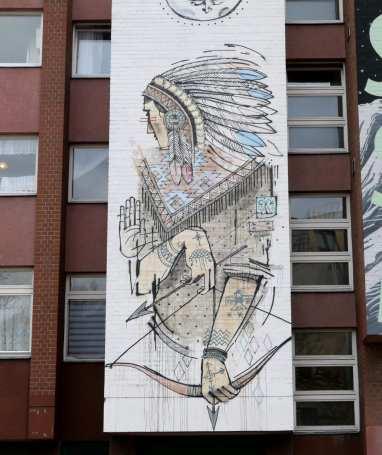 Indianer-Mural