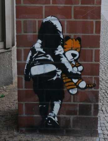 Streetart mit Tiger