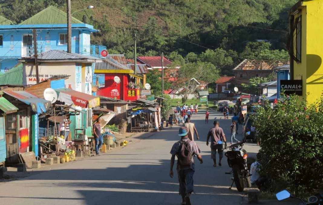 Dorfstraße in Afrika