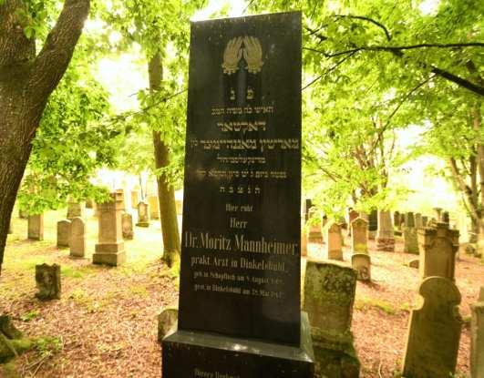 Dr. Moritz Mannheimer Grabstein jüdischer Friedhof