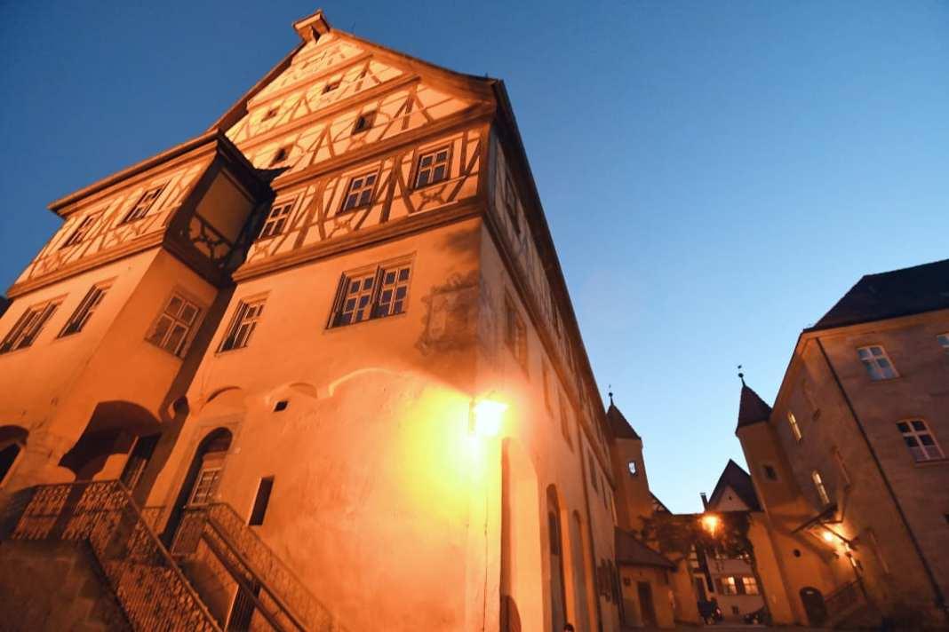 Fachwerkgebäude im Abendlicht