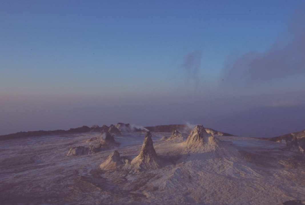 Vulkanschlote auf einem Vulkan