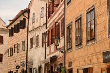 Fassaden einer historischen Stadt