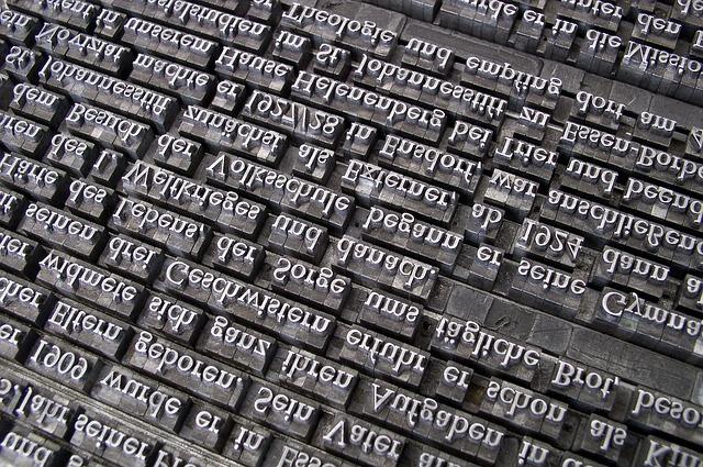 Typographie : caractères d'imprimerie