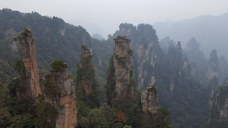 Les pics célestes de Zhangjiajie