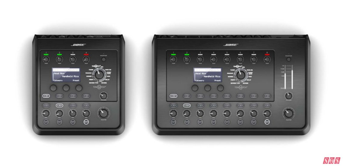 Bose's new easy-to-use, preset-heavy T4S and T8S ToneMatch mixers.