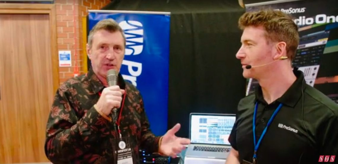 Lee Boylan from PreSonus showed SOS's Paul White how PreSonus interfaces can form the crucial bridge between a CV-based modular synth system and a computer-based DAW.