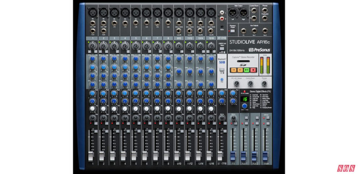 PreSonus's ARc16 Mixer, from the updated StudioLive range launched at NAMM 2020, is now shipping in the USA.
