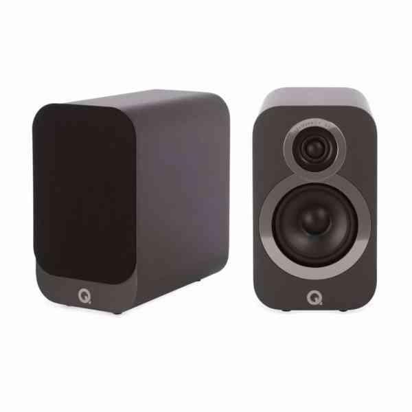 Q Acoustics 3010i è un diffusore da stand grigio