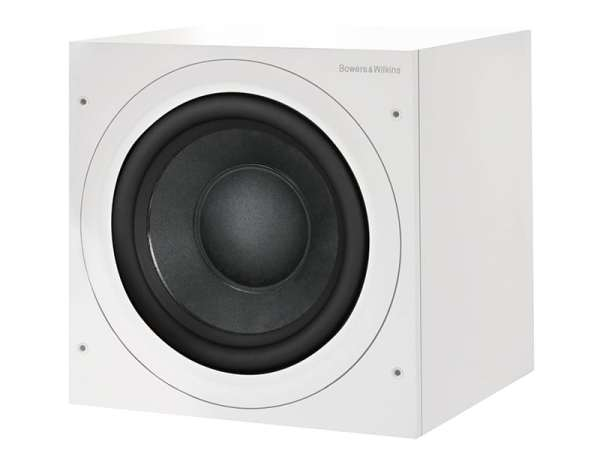 Bowers & Wilkins ASW610XP è un subwoofer amplificato bianco