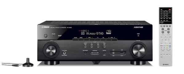 Yamaha RX-A680 è un sintoamplificatore audio video nero